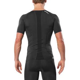 2XU Compression Koszulka do biegania z krótkim rękawem Mężczyźni, black/sil
